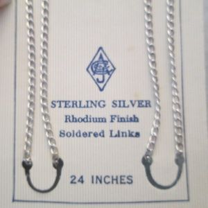 """BLOWOUT SALE>Sterling Silver 24"""" Chain> Endless"""